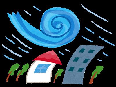 自然災害 台風イラスト